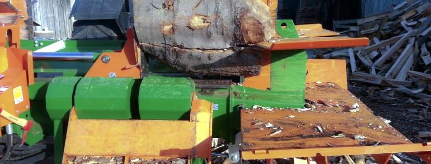 Mobiler Holzspalter